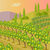 árbol · colinas · paisaje · idílico · hierba · sol - foto stock © robuart