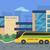 ilustración · escuela · edificio · amarillo · autobús · vector - foto stock © robuart