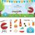 nyáridő · web · design · sablon · weboldal · szalag · leszállás - stock fotó © robuart
