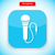microphone app icon flat style design stock photo © robuart