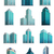 set icons skyscrapers buildings stock photo © robuart