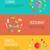 étterem · vízszintes · bannerek · színes · szett · legjobb - stock fotó © robuart