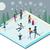 冬 · 公園 · 人 · セット · ポスター · カップル - ストックフォト © robuart