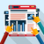 analítica · infografía · navegador · vector · eps · ordenador - foto stock © robuart