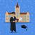 gülen · genç · mezuniyet · cüppe · sertifika - stok fotoğraf © robuart