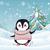 christmas penguin flat design vector illustration stock photo © robuart