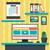 современных · служба · Дизайнер · интерьера · Desktop · дизайна · бизнеса - Сток-фото © robuart