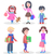 shopping children flat vector characters set stock photo © robuart