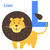 лев · письме · английский · алфавит · детей · характер - Сток-фото © robuart