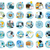 icons set banners for business stock photo © robuart