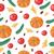 naadloos · vector · patroon · appels · Rood · groene - stockfoto © robuart