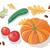 autumn harvest vector concept in flat design stock photo © robuart