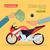 motocicleta · vector · Cartoon · ilustración · caliente · mirando - foto stock © robuart