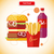 fast · food · iconen · pizza · sandwich · biefstuk · hamburger - stockfoto © robuart