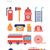 pompier · noir · icônes · blanche · sécurité - photo stock © robuart