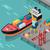 teher · kikötő · vektor · izometrikus · vetítés · raktár - stock fotó © robuart