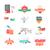 iconos · tienda · online · ilustración · diecisiete · línea - foto stock © robuart
