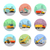 set of vector icons with construction machines stock photo © robuart