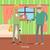 老人ホーム · ベクトル · eps · 女性 · ホーム · にログイン - ストックフォト © robuart