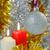 karácsony · gyertyák · absztrakt · háttér · tél · labda - stock fotó © rogerashford