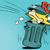 вектора · стиль · иллюстрация · мусор · продовольствие · икона - Сток-фото © rogistok