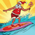 sports santa claus on a surfboard stock photo © rogistok