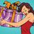 ギフトボックス · ハーフトーン · リボン · 弓 · 幸せ · デザイン - ストックフォト © rogistok