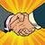 ビジネス · ハンドシェーク · パートナーシップ · チームワーク · ポップアート · レトロな - ストックフォト © rogistok