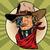 steampunk · robot · bandiet · wild · west · gezocht - stockfoto © rogistok