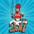 nieuwjaar · vuurwerk · champagne · bril · vector · partij - stockfoto © rogistok