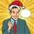 christmas businessman pointing finger stock photo © rogistok