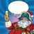 papai · noel · desenho · animado · bolha · natal · saudação · ano · novo - foto stock © rogistok