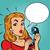 comic girl talking on the phone stock photo © rogistok
