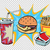fast food set burger fries drink and sauce stock photo © rogistok