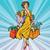 cômico · desenho · animado · mulher · bonita · retro · estilo - foto stock © rogistok