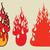 fogueira · desenho · animado · estilo · estrelas · doente · chocolate - foto stock © rogistok