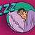 retro man sleeping in bed stock photo © rogistok