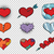 set of valentine hearts on a transparent background stock photo © rogistok