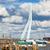 river pier and bridge in rotterdam stock photo © rognar