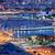 Barcelona · városkép · éjszaka · város · tenger · épületek - stock fotó © rognar