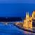 Boedapest · stadsgezicht · nacht · keten · brug · donau - stockfoto © rognar