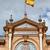 bandeira · espanhola · Espanha · bandeira · tridimensional · tornar · cetim - foto stock © rognar