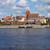 sziluett · Lengyelország · óváros · híd · folyó · tavasz - stock fotó © rognar