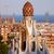 park · naplemente · Barcelona · Spanyolország · égbolt · város - stock fotó © rognar