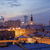 solidariedade · distrito · Varsóvia · noite · linha · do · horizonte · Polônia - foto stock © rognar