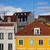 Lissabon · daken · Portugal · panorama · stad · straat - stockfoto © rognar
