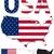 USA · carte · pavillon · résumé · fond - photo stock © ronfromyork