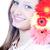 belo · mulher · jovem · três · flores · mulher - foto stock © rosipro
