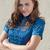 feliz · mulher · jovem · azul · camisas · mulher · menina - foto stock © rosipro