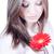 belo · mulher · jovem · vermelho · flor · mulher - foto stock © rosipro